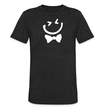 Smiley face Men's Tri-Blend Vintage T-Shirt by American Apparel