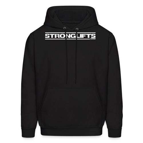 StrongLifts Black Hoodie Without Slogan - Men's Hoodie