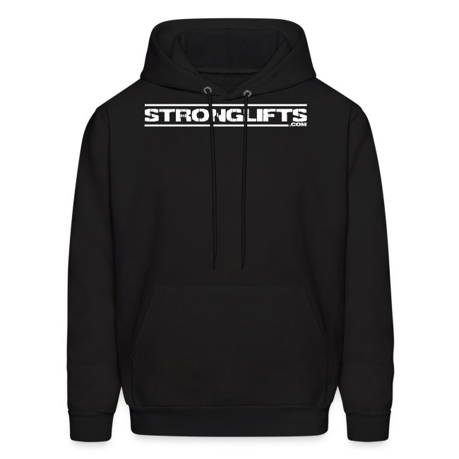 StrongLifts Black Hoodie Without Slogan