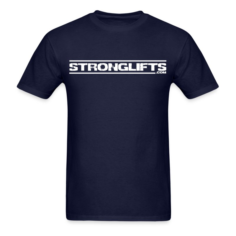 StrongLifts Barbell Goes Here Navy T-shirt - Men's T-Shirt