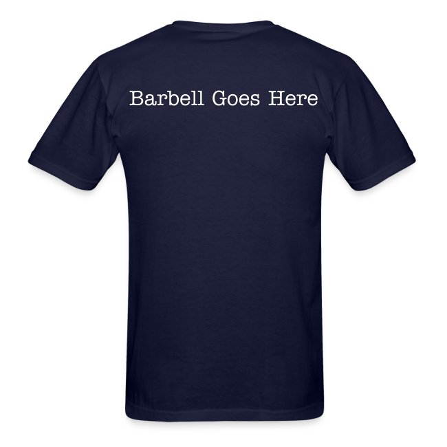 "StrongLifts ""Barbell Goes Here"" Navy T-shirt"