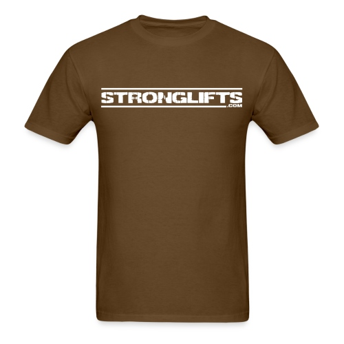 StrongLifts Barbell Goes Here Brown T-shirt - Men's T-Shirt