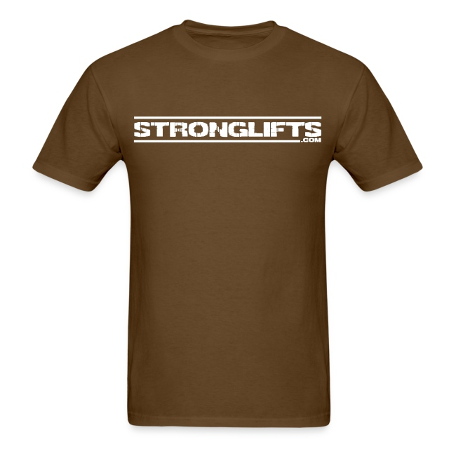 """StrongLifts """"Barbell Goes Here"""" Brown T-shirt"""
