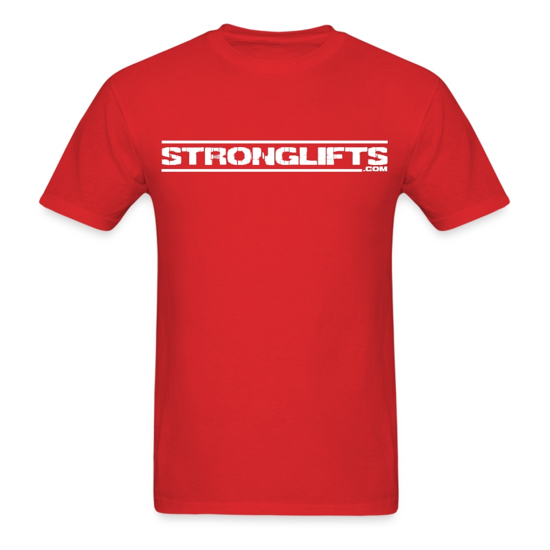StrongLifts Barbell Goes Here Red T-shirt - Men's T-Shirt