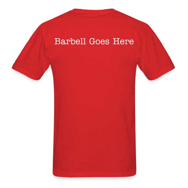 "StrongLifts ""Barbell Goes Here"" Red T-shirt"
