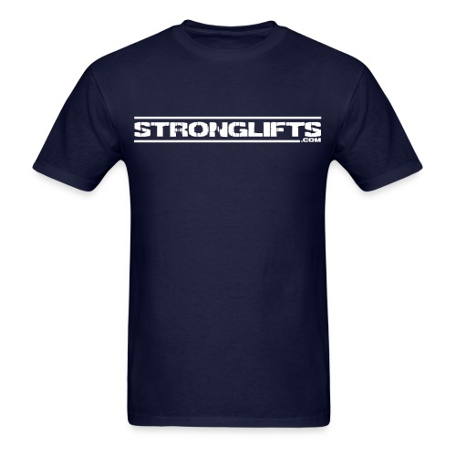 StrongLifts Navy T-shirt Without Slogan - Men's T-Shirt