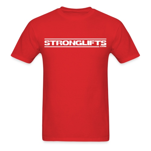 StrongLifts Red T-shirt Without Slogan - Men's T-Shirt