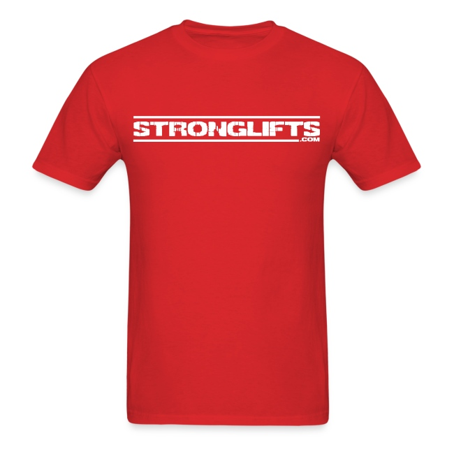 StrongLifts Red T-shirt Without Slogan