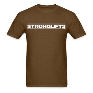 StrongLifts Brown T-shirt Without Slogan - Men's T-Shirt