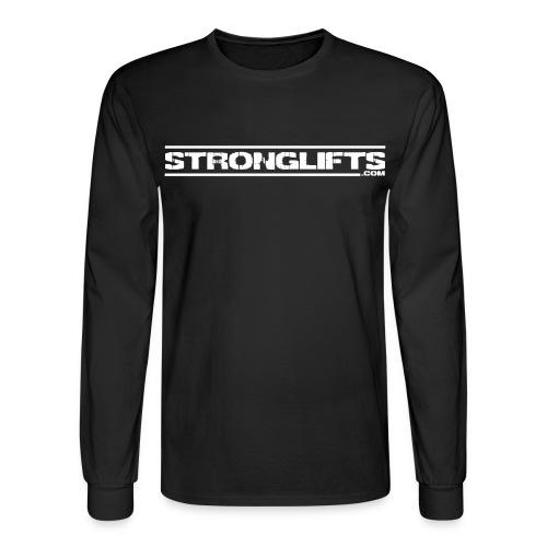 StrongLifts Barbel Goes Here Long Sleeve T-shirt Black - Men's Long Sleeve T-Shirt