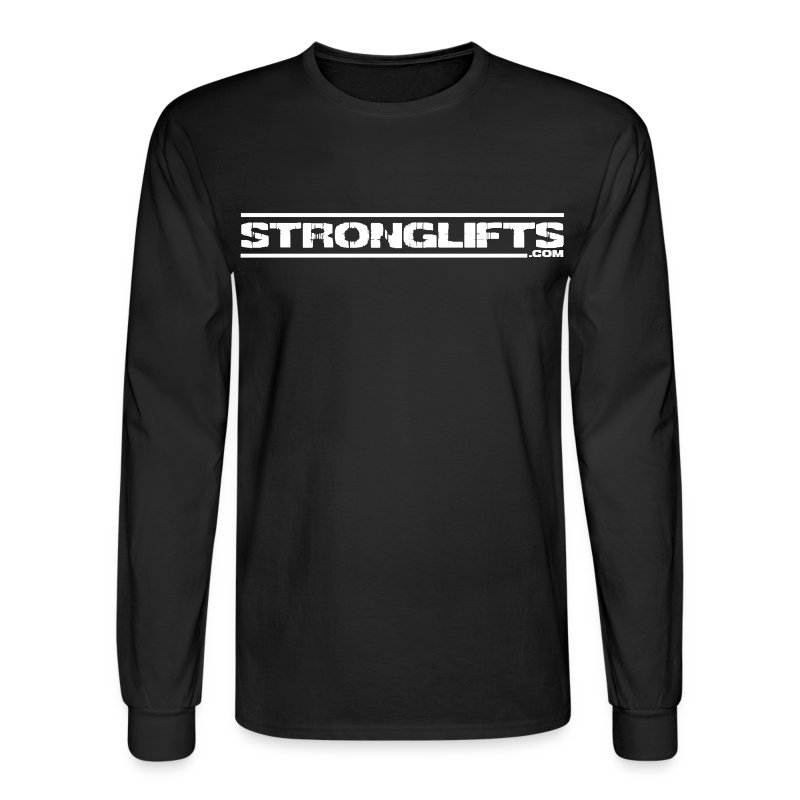 StrongLifts Barbel Goes Here Long Sleeve T-shirt Black - Men's Long Sleeve T-Shirt