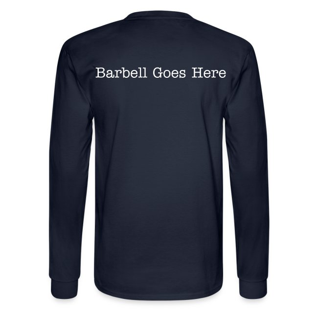 "StrongLifts ""Barbel Goes Here"" Long Sleeve T-shirt Navy"