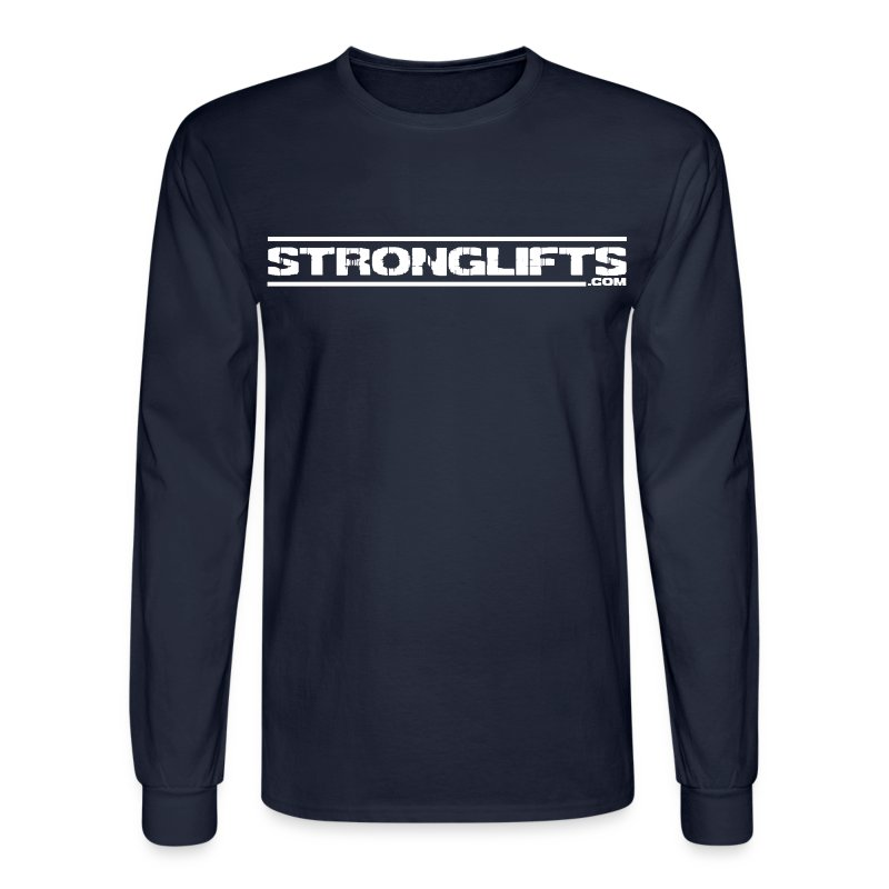 StrongLifts Long Sleeve T-shirt Brown Without Slogan - Men's Long Sleeve T-Shirt