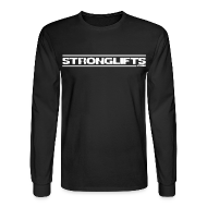 Long Sleeve Shirts ~ Men's Long Sleeve T-Shirt ~ StrongLifts Long Sleeve T-shirt Black Without Slogan