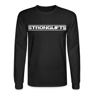 StrongLifts Long Sleeve T-shirt Black Without Slogan - Men's Long Sleeve T-Shirt