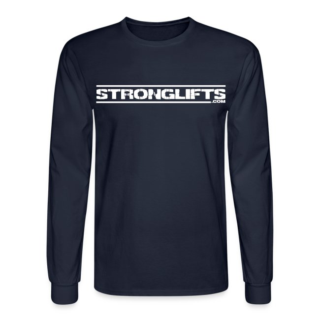 StrongLifts Long Sleeve T-shirt Navy Without Slogan