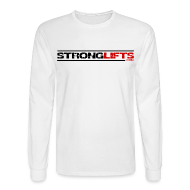 Long Sleeve Shirts ~ Men's Long Sleeve T-Shirt ~ StrongLifts Long Sleeve T-shirt White Without Slogan