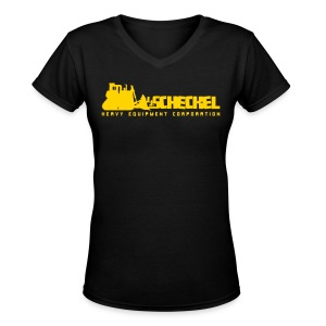 JJ Scheckel Dozing Logo - Women's V-Neck T-Shirt