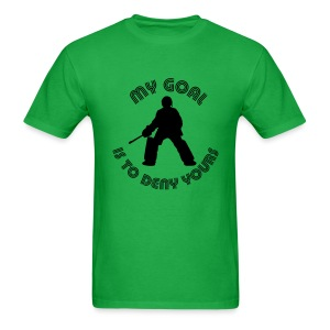 My Goal Is To Deny Yours Men's Standard Weight T-Shirt - Men's T-Shirt