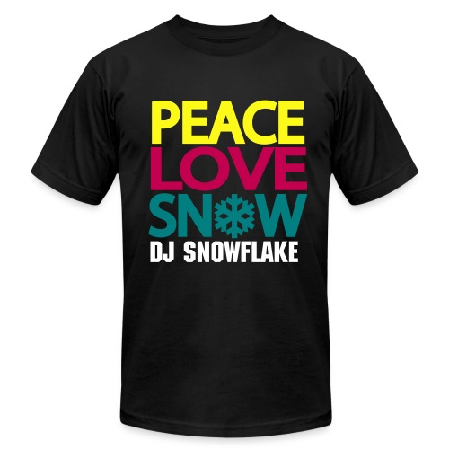 Peace, Love, Snow (Men's) - Men's Fine Jersey T-Shirt