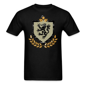 Vintage Regal Lion and Shield Grunge - Men's T-Shirt