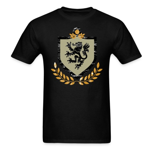 Vintage Regal Lion and Shield Grunge - Men's T-Shirt
