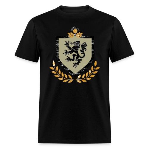 Vintage Regal Lion and Shield Grunge Shirt - Men's T-Shirt