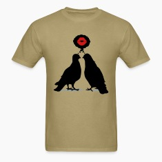 Kiss thinking  Doves - Two Valentine Birds_3c T-Shirts