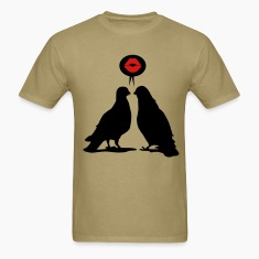 Kiss saying  Doves - Two Valentine Birds_2c T-Shirts