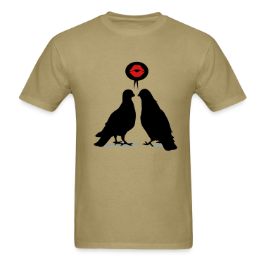 Kiss saying  Doves - Two Valentine Birds_3c T-Shirts