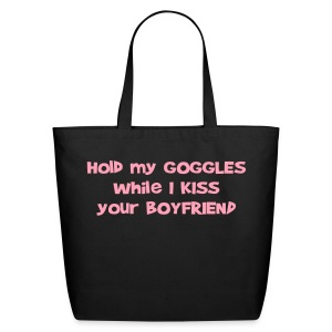 Hold My Goggles - Large Tote Bag - Eco-Friendly Cotton Tote