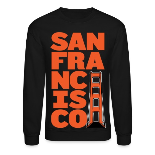 SF Crewneck Black - Crewneck Sweatshirt