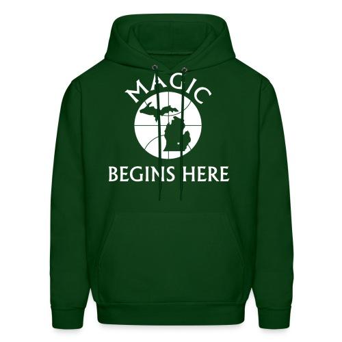 MAGIC BEGINS HERE HOOD - Men's Hoodie