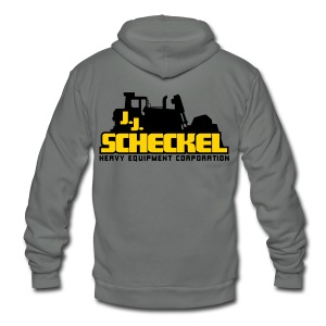JJ Scheckel Stacked Logo Unisex Fleece Zip Hoodie - Unisex Fleece Zip Hoodie by American Apparel