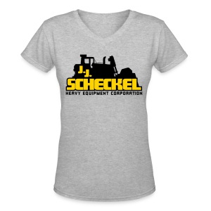 JJ Scheckel Stacked Logo - Women's V-Neck T-Shirt