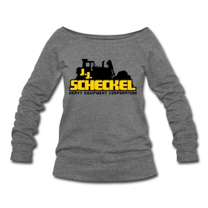 JJ Scheckel Stacked Logo - Women's Wideneck Sweatshirt