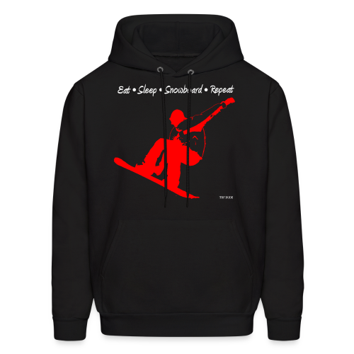 Eat Sleep Snowboard Repeat 002 - red - Men's Hoodie