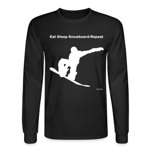 Eat Sleep Snowboard Repeat 001 - wb - Men's Long Sleeve T-Shirt