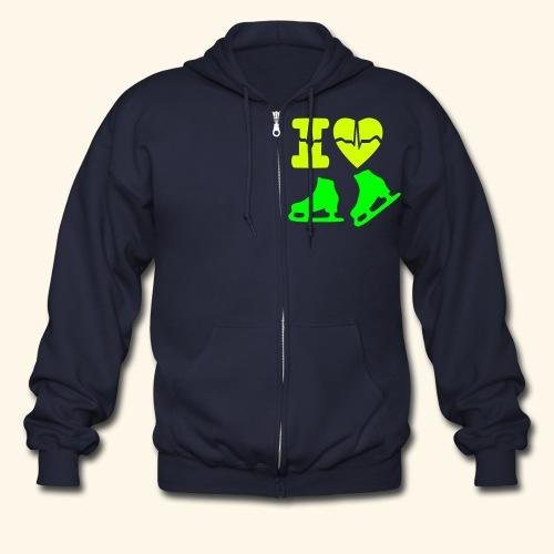 i love winter sports - Men's Zip Hoodie