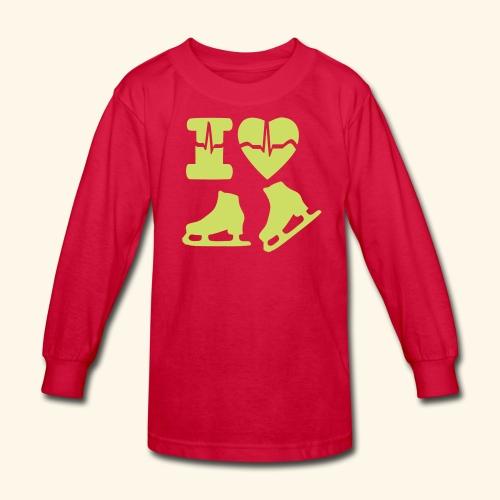 i love SKATING - Kids' Long Sleeve T-Shirt