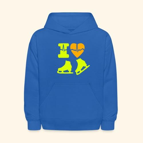 i love SKATING - Kids' Hoodie