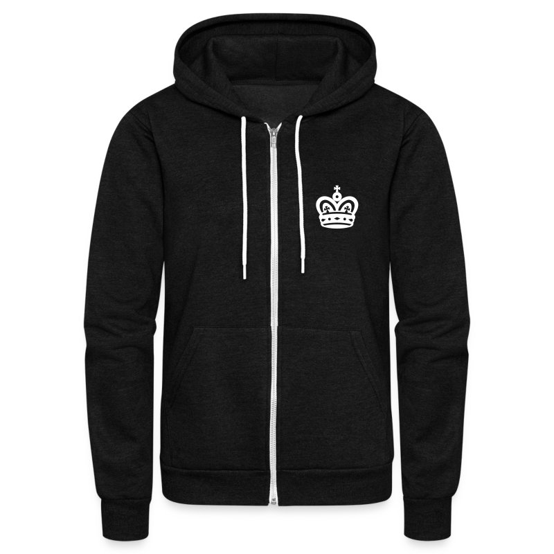 Jee Juh Crown (vector design) - Unisex Fleece Zip Hoodie by American Apparel