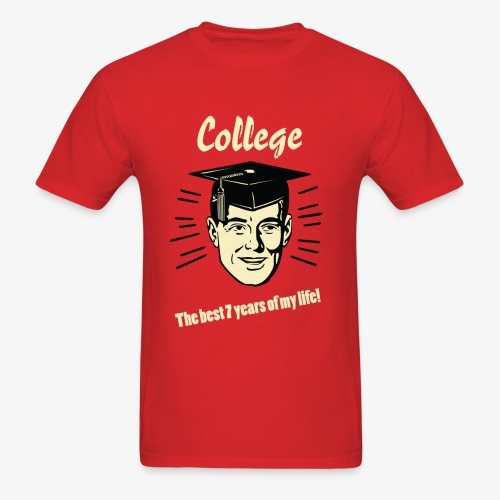 Smash Vintage 7 Years of College Classic T-Shirt - Men's T-Shirt