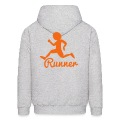 RUNNER shape person running Hoodies