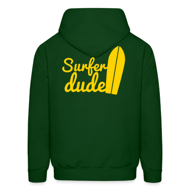 surfer dude with surf board Hoodies