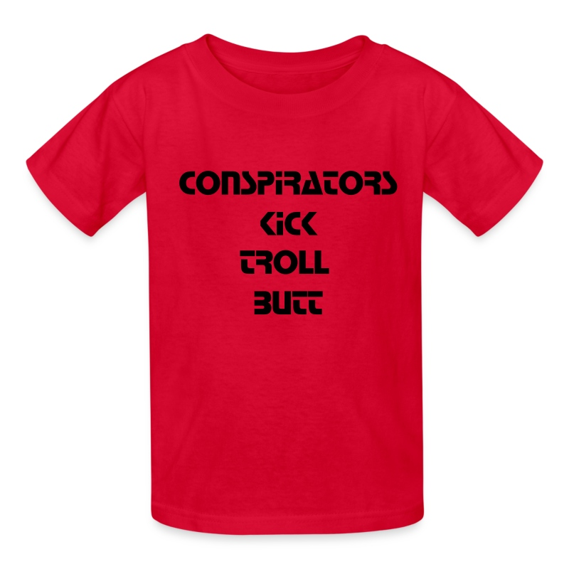 Conspirators Kick Troll Butt - Black Text - Kids - Kids' T-Shirt