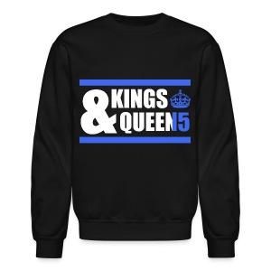 Class of 2015 - Kings & Queens (Blue with bands) - Crewneck Sweatshirt