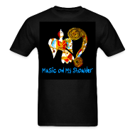 T-Shirts ~ Men's T-Shirt ~ Men's MUSIC ON MY SHOULDER T-Shirley for Charity
