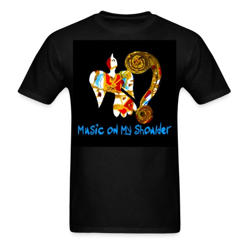 Men's MUSIC ON MY SHOULDER T-Shirley for Charity - Men's T-Shirt
