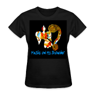 Women's T-Shirts ~ Women's T-Shirt ~ Women's MUSIC ON MY SHOULDER T-Shirley for Charity